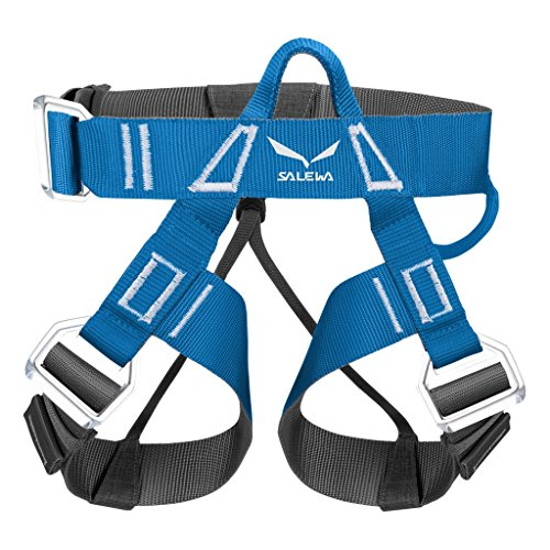 SALEWA VIA FERRATA EVO ROOKIE harness Klettergurt, Polar Blue/Carbon, XXS/S