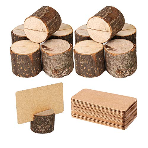 Rustic Wood Photo Holders - 10 Pieces