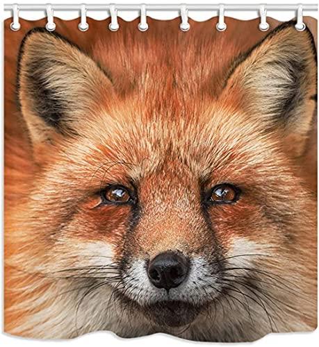 Tier Badezimmer Duschvorhänge Füchse Schnauze Blick Whiskers Badezimmer Vorhang
