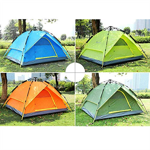 LULUVicky Camping Tent3-4 People Double Layers Waterproof Breathable Automatic Tent With BagFestival Tent (Size:210x210x150cm; Color:Light Green)