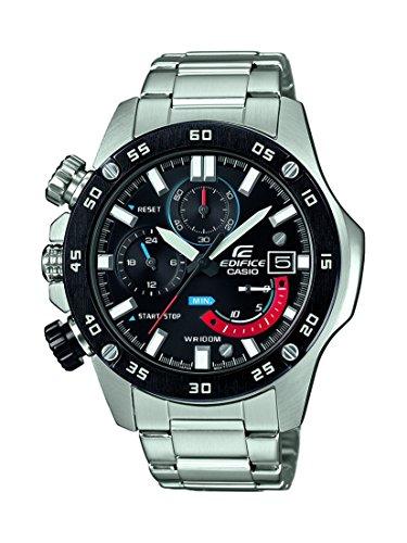 Casio EDIFICE Reloj en caja sólida, 10 BAR, Negro, para Hombre, con Correa de Acero inoxidable, EFR-558DB-1AVUEF