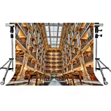 Famous Building Backdrop European Library Photography Backdrop MEETSIOY 10X7ft Themed Party Photo Booth YouTube Backdrop PMT921