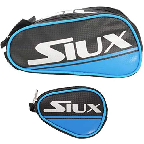 PADEL NUESTRO Neceser Deportivo Siux + Monedero Siux/Neceser para Viajes y Deporte/Mochila pequeña para Hombre Mujer y niño/Neceser para Tenis (Azul)