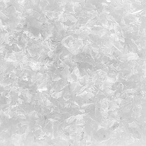 DEKOSCHNEE GROB. 1 Liter. Kunststoff Schneeflocken Deko Schnee Kunstschnee. Weiss