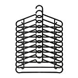 SPRUTTIG IKEA - Juego de 10 perchas de plástico con gancho y barra fija, color...