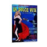 ZHENGDONG La Dolce Vita Poster auf Leinwand, Wandkunst,