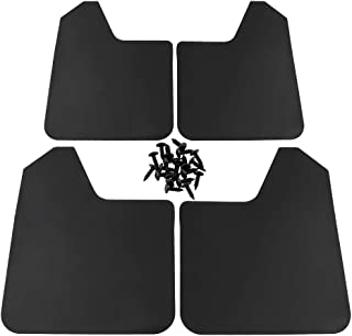Everrich 4 Pack Fender Flares Kit Universal Mud Flaps for Car, Pickup, SUV, Van, Truck, etc