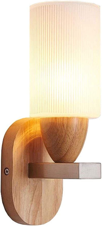 garantía de crédito WEAO Moderna Lámpara De Parojo Parojo Parojo De Madera De Roble Nordic Creativo Minimalista Cristal Esmerilado Lámparas De Parojo LED Dormitorio Luces De Pasillo, E27  comprar barato