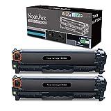 NoahArk Compatible con HP 125A CB540A Cartucho de tóner de Repuesto para HP Color Laserjet CM1312 CM1312n CM1312nf CM1312nfi CP1510 CP1514n CP1515n CP1518 CP1518ni CP1210 CP1215 CP15 215N 2 Negro