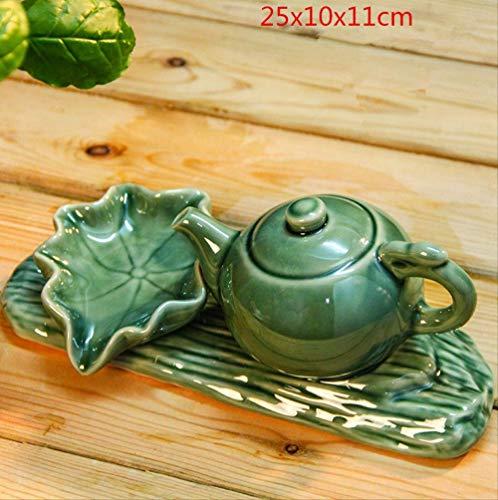 ECXJWLUH Keramik Teekanne Zirkulationswasser Zubehör Steingarten Trog Brunnen Wasserspiel Filter Nach Hause Fischteich Bauen Landschaft Dekoration B