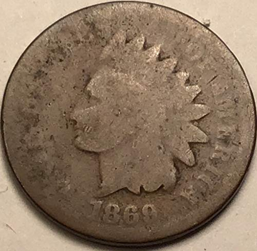 1869 Indian Head Penny About Good Details