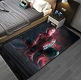 QNYH Alfombra De Impresión 3D De Spiderman De Dibujos Animados, Alfombra De Juguete para Gatear para Bebés De La Habitación De Los Niños, Alfombra De La Mesa De Café De La Sala De Estar 50Cmx80Cm