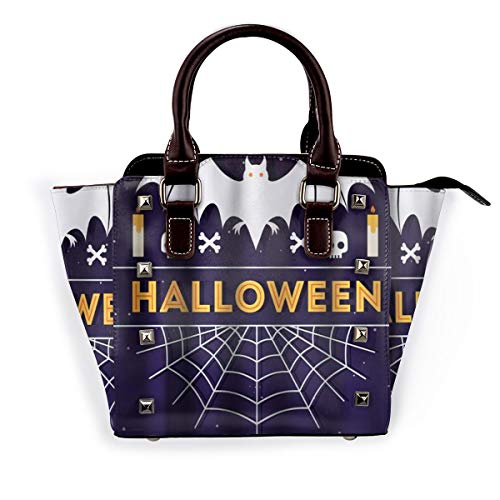 BROWCIN Halloween lustige Cartoon Ghost Bats Spider 'Web-Muster-Thema Abnehmbare mode trend damen handtasche umhängetasche umhängetasche