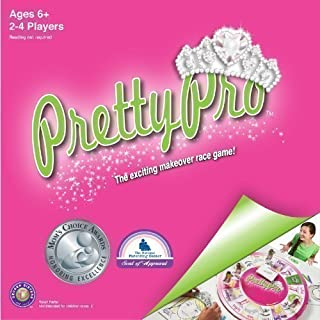 Decker Sisters, LLC PrettyPro Game: Unique Award Winning Board Game of Makeup Artists Who Race to The Finish & Capture The Prettyheart Tiara to Win