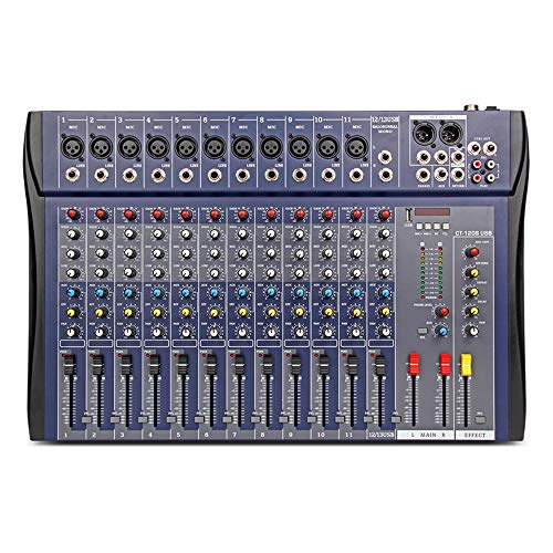 XTUGA CT-120S USB Professional Stage Audio Mixer Built-in Digital Effect Mixer with 48V Phantom Power Music Mixer 12 Channel Mixer (CT120S-12Channel). Buy it now for 125.99