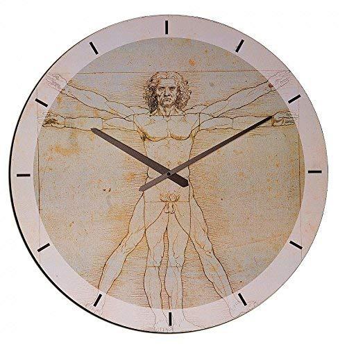 Artopweb da Vinci Vitruviano herenhorloge, hout, meerkleurig, 60 x 0,5 x 60 cm