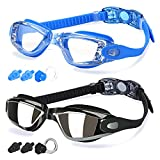 COOLOO Swimming Goggles, Pack of 2, Swim Goggles for Adult Men Women Youth Kids Children, with Anti-Fog, Waterproof, Protection Lenses