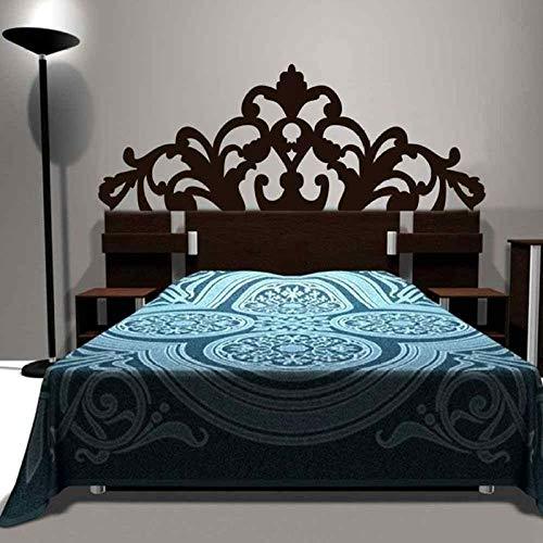 JXGG Kurze Barock Muster Stil Kopfteil Aufkleber Bett Vinyl Wandaufkleber schöne Blume Schlafzimmer Wohnheim Wand Dekor Home Decoration152x58cm anpassbar