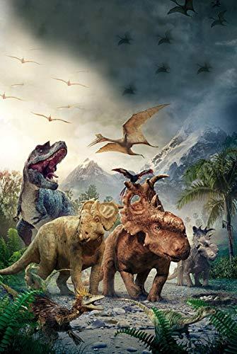 DIY 1000 Puzzle Rompecabezas Madera Para Adultos Juguete Educativo Wooden Jurassic Park Regalo Único Estilo De Decoración Del Hogar -75x50cm