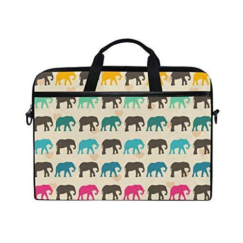 EZIOLY Elephants Laptop Shoulder Messenger Bag Case Sleeve for 13 Inch to 14 inch Laptop