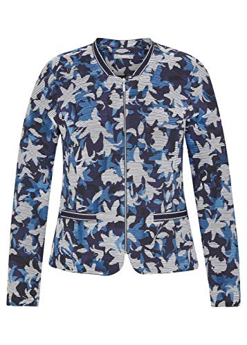 Rabe Chaqueta para mujer con estampado floral y cremallera. marine 40