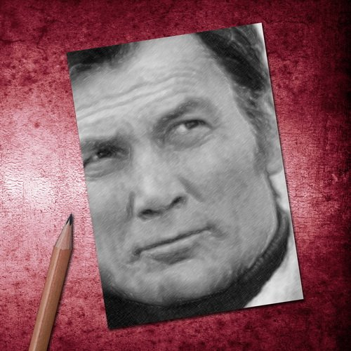 Seasons JACK PALANCE - ACEO Sketch Card (Signed by the Artist) #js002