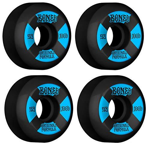 Bones Skateboard Wheels 53mm 100's V5 Sidecut Black 100A