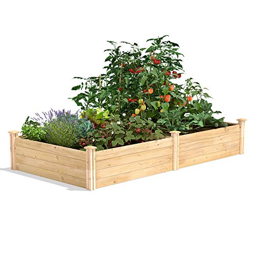 Greenes Fence Cedar Raised Garden Kit 4 Ft. X 8 Ft. X 14 in.