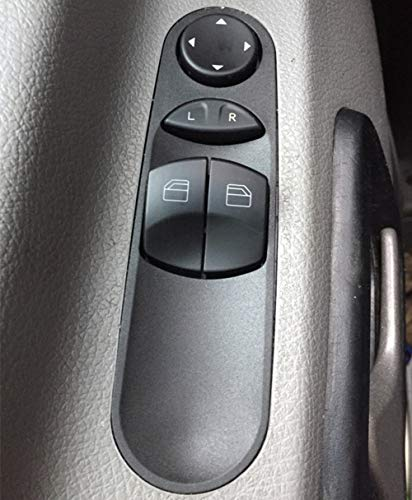 Hlyjoon A9065451913 Car Power Window Control Switch Auto Left Passenger Side Switch Button 21543901 for W906 2006 Mercedes-Benz Sprinters