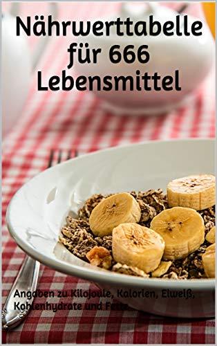 Nährwerttabelle für 666 Lebensmittel: Angaben zu Kilojoule, Kalorien, Eiweiß, Kohlenhydrate und Fette