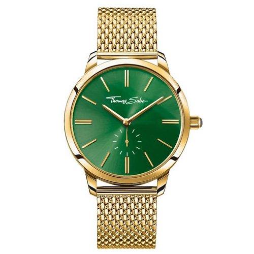 Thomas Sabo Damen Armbanduhr Analog Quarz Edelstahl WA0275-264-211-33 mm
