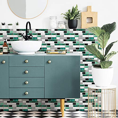 Adhesivo decorativo para azulejos de pared, para decoración del hogar, despegar y pegar, autoadhesivo, para decoración de azulejos, 54 unidades