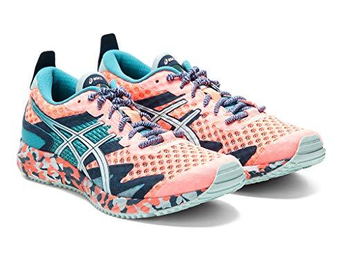 ASICS Zapatillas de running Gel-Noosa Tri 12 para mujer, rosa (Coral sol/Bio Menta), 42.5 EU