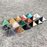 WWXP Natural de Cristal 7 PC/porción Multi-colorChakra pirámide de Piedra Sistema cristalino de la Cura Chakra Set o joyería Que Hace el Color al Azar Terapia de Cristal Reiki (Color : Random)