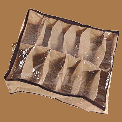 Guangcailun 12 Rejilla Transparente Caja de Zapatos a Prueba de Polvo Resistente a la Humedad Zapatos Caja de Zapatos de Super Box