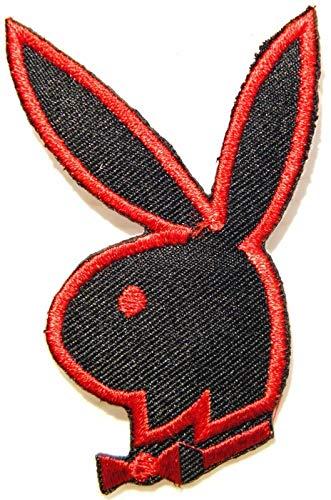 Playboy Bunny Sexy Lady Rabbit Patch Iron on Sew Embroidered Applique Logo Badge Sign Symbol Embelm T Shirt Jacket Vest Bag Baseball Cap Decorative Craft