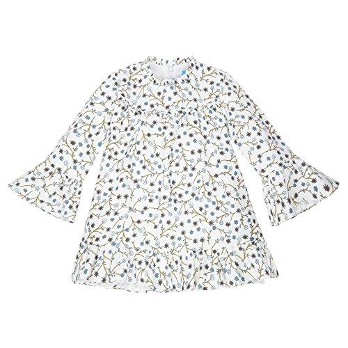 TARTALETA, Vestido Petit Vuelo - Vestido de Manga Larga para niñas, Color Azul Chocolate, Talla 8 AÑOS