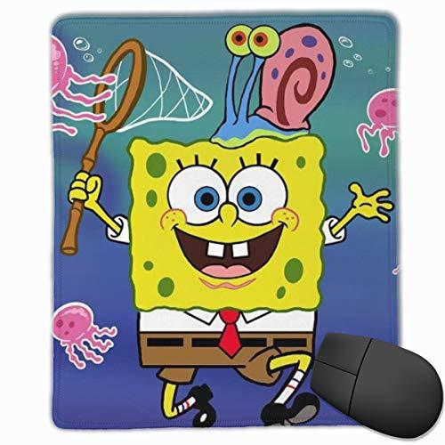 Anti-Slip Mouse Pad Spongebob Catches Octopus Premium Mouse Pad for Desktop Laptop Keyboard Consoles