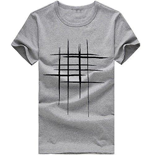 Adaoxy - Camiseta de manga corta para hombre (algodón), diseño casual