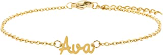 Sponsored Ad - JoycuFF Custom Name Anklet 18K Gold Chain Personalized Anklets for Women Teen Girls Bridesmaid Daughter Mom...