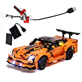 GEAMENT Building Blocks Light Kit for Technic Chevrolet Corvette ZR1 - Compatible with 42093 Lego Model (Lego Set Not Included)