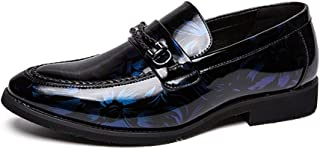 2019 Mens New Lace-up Flats Men's Oxford Fashion Leisure Classic Printed Individual Braided Lace Metal Decorative Painted Furniture Shoes