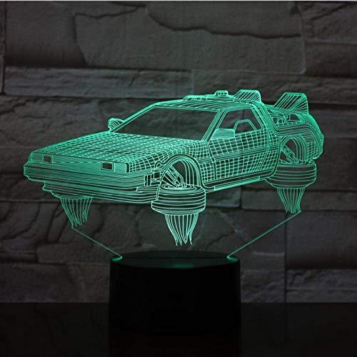 Lumières d'ambiance Retour vers le futur véhicule Voiture Lampe 3D Joli cadeau pour les fans de cinéma Veilleuse à piles Led Veilleuse Lampe Livraison rapide