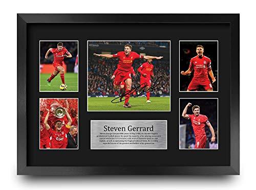 HWC Trading A3 P Steven Gerrard Regalos Firmados Gran Regalo A3 Impreso Autógrafos Liverpool Imagen De Impresión De Pantalla