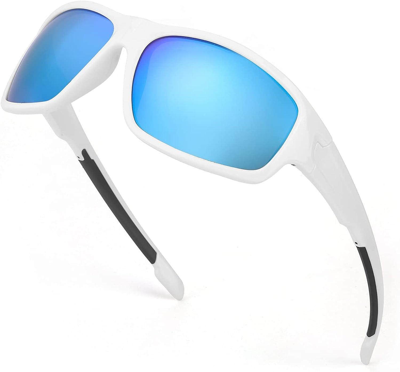 TJUTR Gafas de sol polarizadas deportivas para hombres y mujeres Ciclismo Correr Moda Espejo Lente Protección UV400