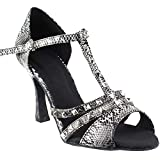 Women's Ballroom Dance Shoes Tango Wedding Salsa Dance Shoes White Snake Sera7012EB Comfortable - Very Fine 3' Heel 6 M US [Bundle of 5]