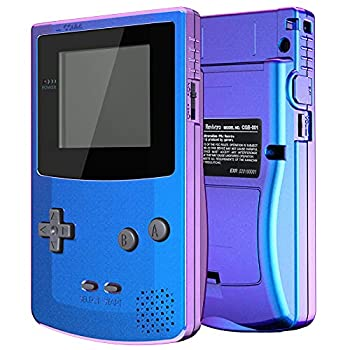 IPS Ready Upgraded eXtremeRate Chameleon Purple Blue GBC Replacement Shell Full Housing Cover w/Buttons for Gameboy Color – Compatible with IPS V2 & Standard LCD – Console & IPS Screen NOT Included