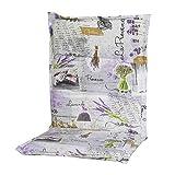 Schwienhorst 6247319 Auflage Sesselpolster niedrig Provence für Textilmöbel 75prozent Baumwolle, 25prozent Polyester, mehrfarbig