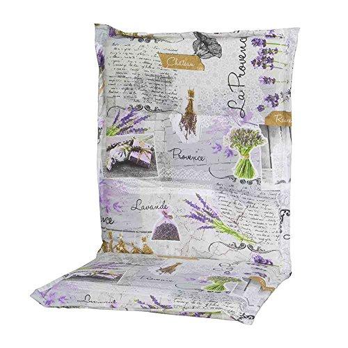 Schwienhorst 6247319 Auflage Sesselpolster niedrig Provence für Textilmöbel 75% Baumwolle, 25% Polyester, mehrfarbig