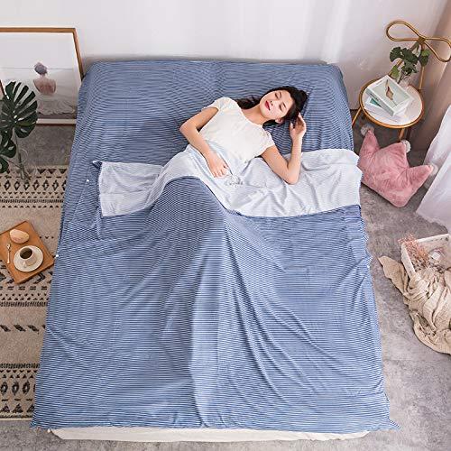 Schlafsack Liner + Pillow Inlet - Kompakter Leichter Sommer Perfekt Für Reisen, Trekking, Camping, Wandern Für Männer, Frauen, Kinder,E,215x80cm